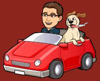 Matt BitEmoji Driving A Car, why blogging is important, business blog, copywriter