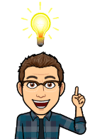 Matt BitEmoji with a light bulb over his head, why blogging is important, business blog, copywriter