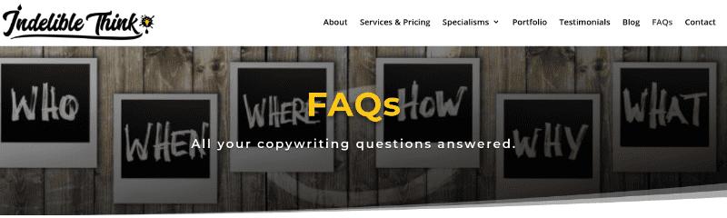 copywriting faqs, what does a copywriter do, website relaunch