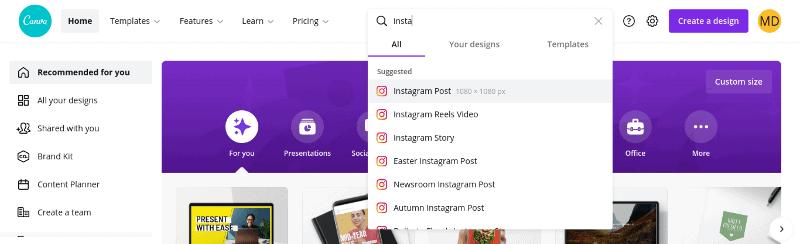 instagram post size image